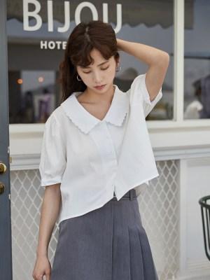 Seulgi – Red Velvet White Short-Sleeved Blouse (46)