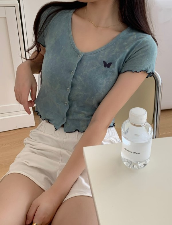 Butterfly Sky Tie Dye Crop Top | Soojin – (G)I-DLE