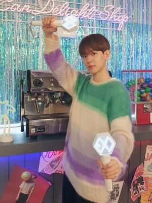 Gradient Mohair-Blend Sweater  | Baekhyun – EXO