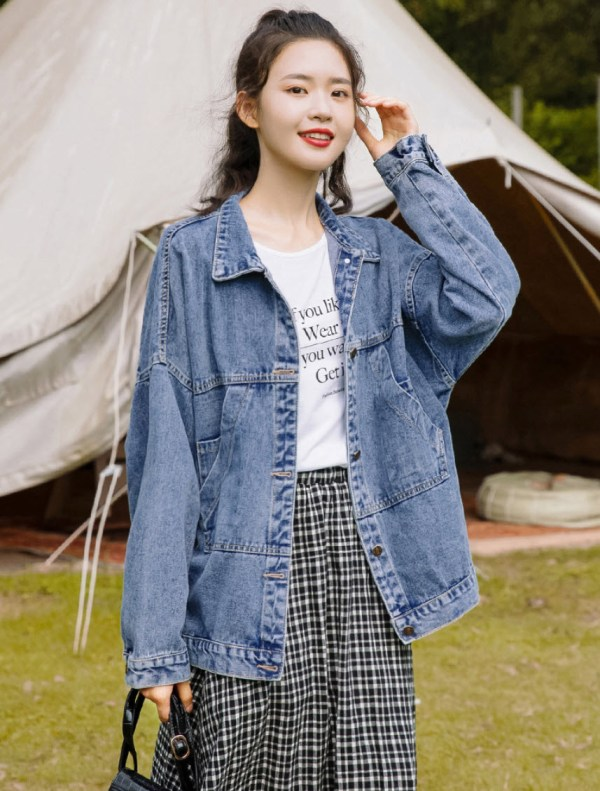 Hoodie Pocket Style Denim Jacket