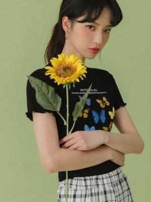 Hwasa – Mamamoo Butterfly Printed Black T-Shirt (4)