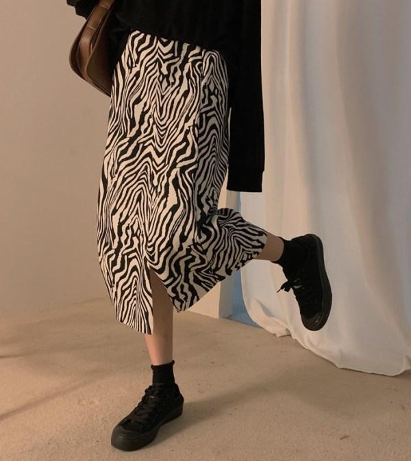 Zebra Patterned Skirt | Hyuna