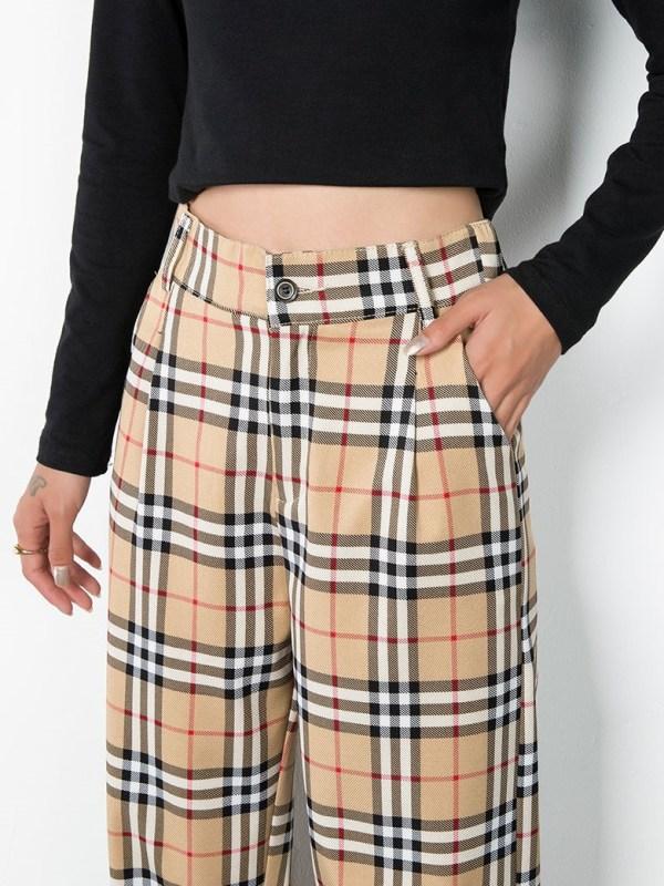 Vintage Check Trousers   Hyunjin – Stray Kids