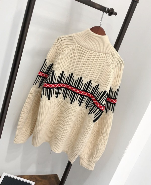Beige Knitted Sweater   IU