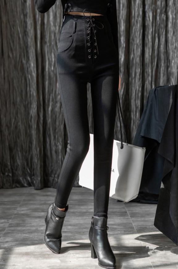 Black High Waist Tie Fit Pants | Irene – Red Velvet