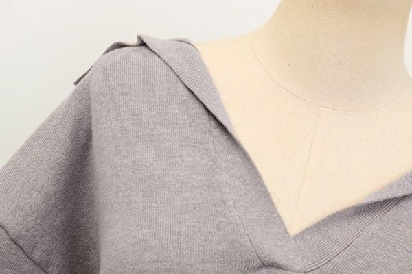 Grey Collared Sweater | Irene – Red Velvet