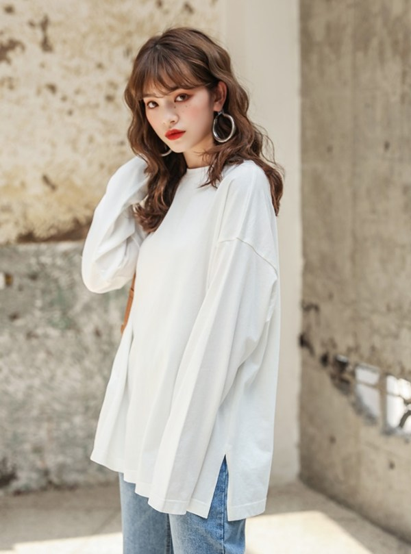 Grey Side Slit Shirt    Irene – Red Velvet