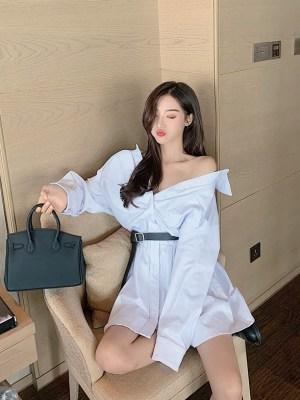 Jennie – BlackPink White Belted Mini Dress (10)