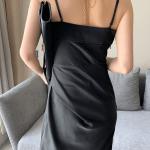Black Twist Midi Dress | Lisa – BlackPink