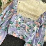 Lace-Up Floral Print Cropped Top    Lisa – BlackPink