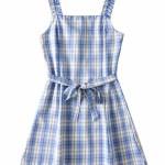 Plaid Sling Dress   Miyeon – (G)I-DLE