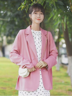 Pink Loose Suit Jacket (3)