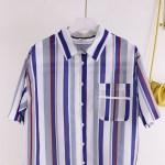 Classic Striped Button-Down Shirt   Sehun-EXO