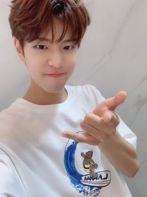Surfing Bear Print T-Shirt | Seungmin – Stray Kids