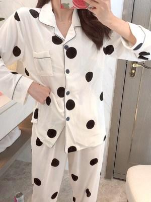Taehyung- BTS Polka Dot Designed Pajama Set (7)