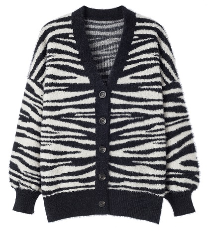 Zebra Patterned Cardigan | Taeyong – NCT