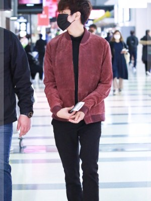 Red Bomber Jacket | Chanwoo – iKON