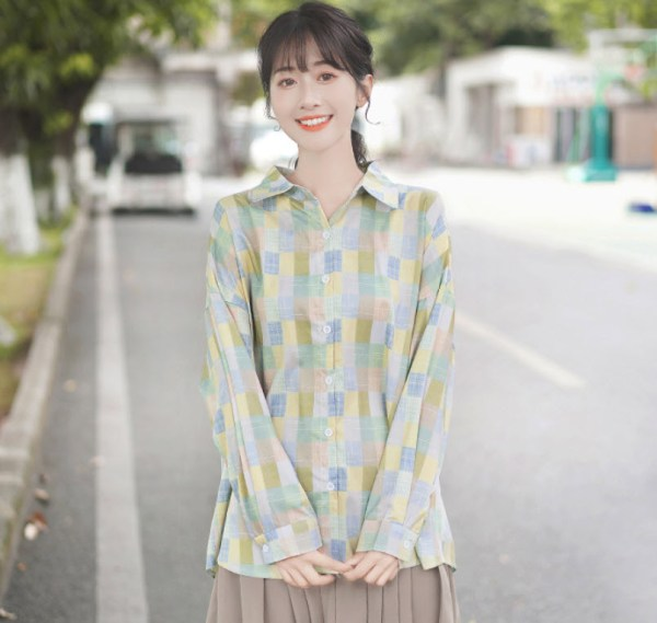 Colorful Mosaic Patterned Shirt