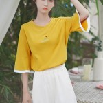 Golden Yellow Bell Sleeved T-Shirt