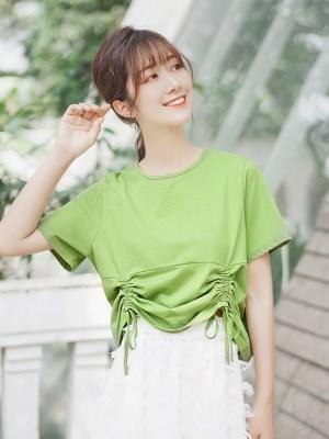 Green Drawstring T-Shirt (4)