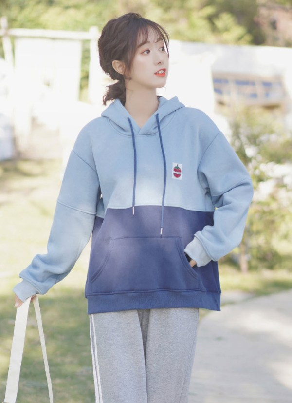I Like Tomato Patch On Two Tone Blue Hoodie