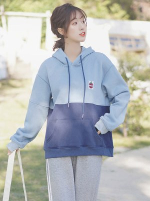 I Like Tomato Patch On Two Tone Blue Hoodie (8)
