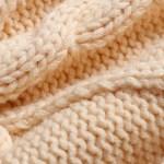 Beige Round Neck Knitted Sweater | IU