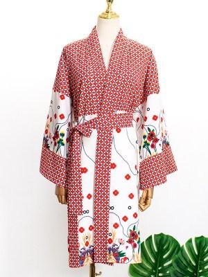 IU – Hotel Del Luna Floral Belted Robe (7)