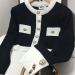 Black Knitted Cardigan With Gold Buttons | Jennie – BlackPink