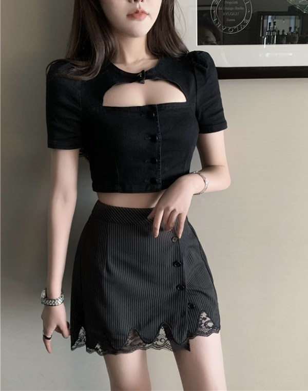 Pleated Lace Mini Skirt | Jennie – BlackPink