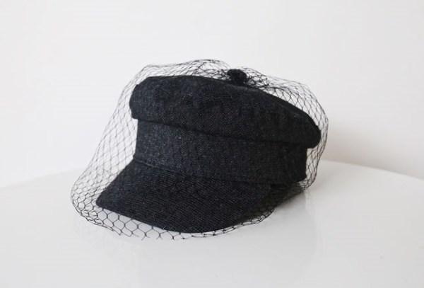 Black Arty Cap With Veil | Jisoo – BlackPink