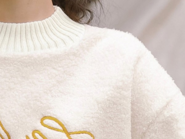 La Luna Flower Embroidered Sweater