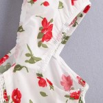 Rose Print Mini Dress | Momo – Twice