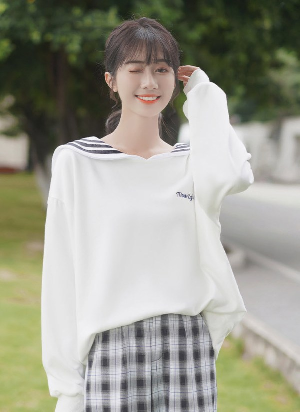 Moonlight Cat Sailor Type Sweater