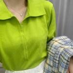 Apple Green Balloon Sleeve Top | Rose – BlackPink