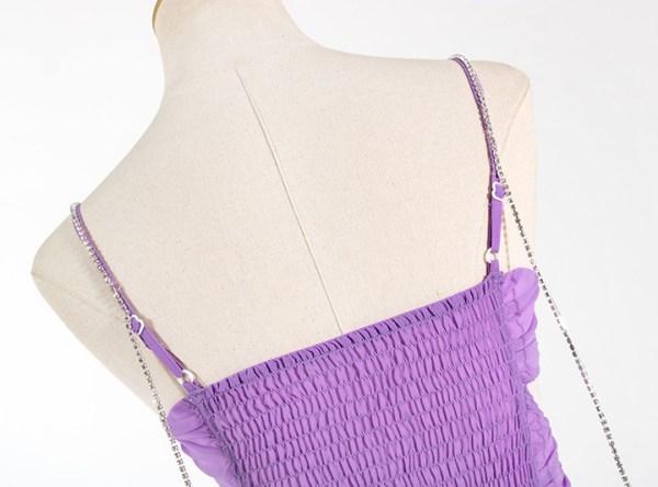 Irregular Hem Purple Dress | Rose – BlackPink