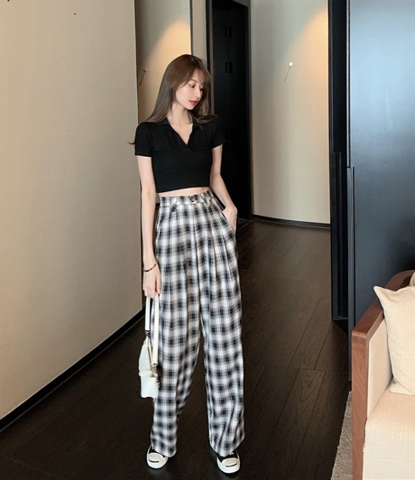 Casual Check Patterned Pants | Soojin – (G)I-DLE