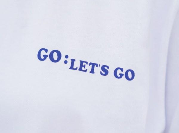 Striped Edges Go Let's Go T-Shirt