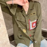 Army Green Patched Jacket | Suga – BTS