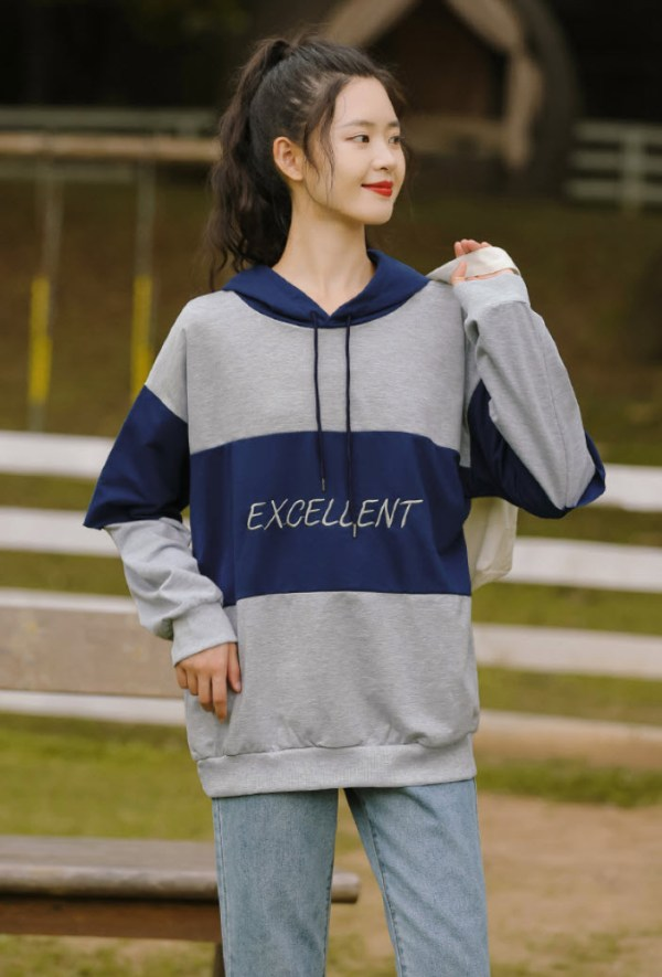 Two Tone Of Blue Excellent Hoodie