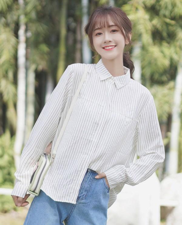 Vertical Striped Casual Shirt
