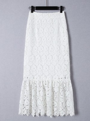 Delicate Lace Embroidered Skirt (1)