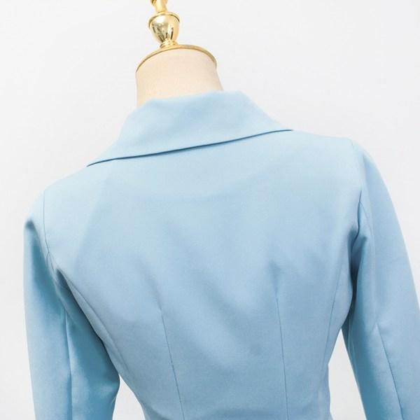 Blue Cropped Suit Jacket | IU – Hotel Del Luna