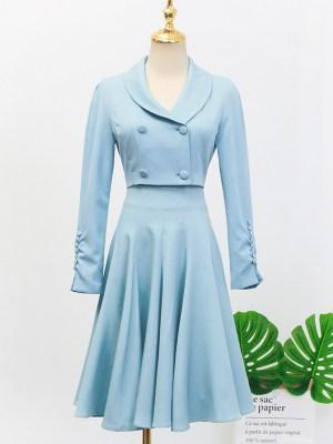 IU – Hotel Del Luna Blue Cropped Suit Jacket (4)
