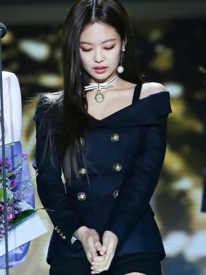 Black Off-Shoulder Blazer Dress   Jennie – BlackPink