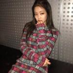 Multicolored Square Patterned Dress | Jennie – BlackPink