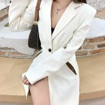 Creamy White Cut-Out Waist Suit | Jisoo -BlackPink