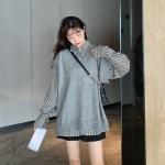 Grey V-Neck Vest   Jisoo – BlackPink