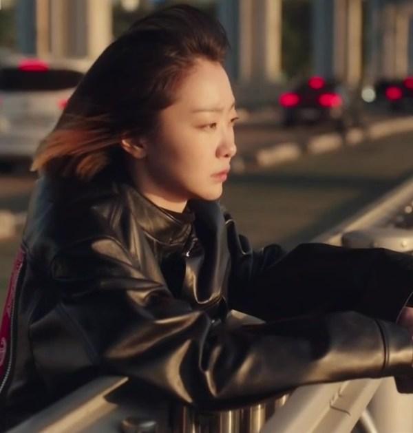 Black Leather Jacket With Bandana Print | Jo Yi So – Itaewon Class