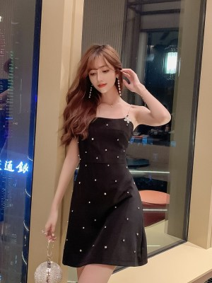 Ko Moon‑Young – It's Okay Not To Be Okay Black Sling Dress With Crystal Details (5)